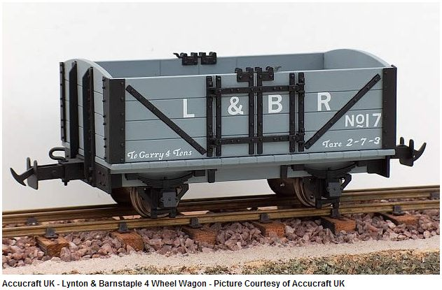 1:19 Scale L & B 4 Wheel Open Wagon