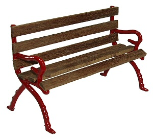 Station seat kit with cast ends and wooden laths