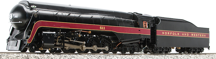 Accucraft - Norfolk & Western 4-8-4 J-Class #611, LIVE STEAM