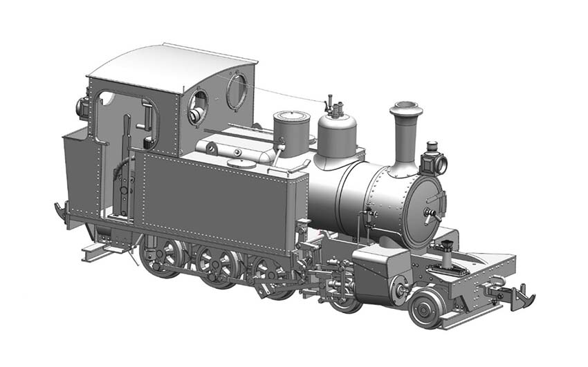 Accucraft UK - WD HUNSLET 4-6-0T in 1:19 Scale