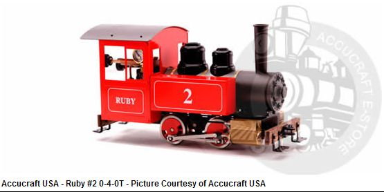 RUBY #2 (0-4-0T) with Pressure Gauge