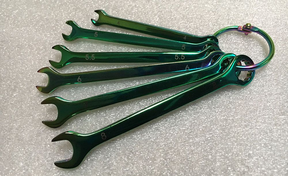 Mini 6 Piece Metric Spanner Set