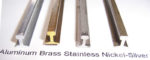 SSV Rail Brass, Aluminium, Stainless Steel, Nickel Silver