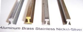 SSV Rail Brass, Aluminium, Stainless Steel, Nickel Silver