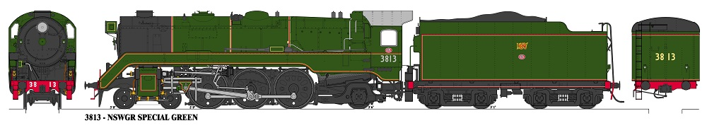 Accucraft Argyle C3813-Unstreamlined, NSWGR Special Green Loco