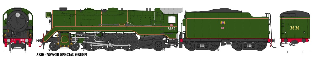Accucraft Argyle C3830 Unstreamlined NSWGR Special Green Locomotive