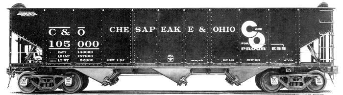 Accucraft Chesapeake & Ohio 3-Bay Open Hoppers