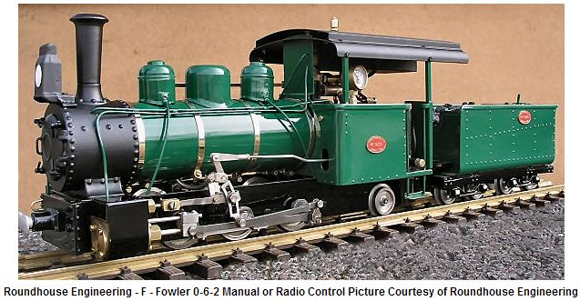 Roundhouse Fowler 0-6-2 Locomotive