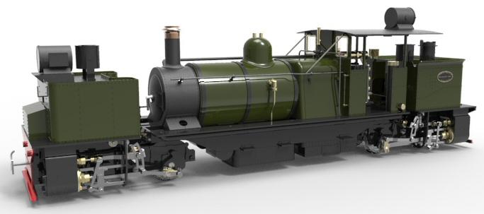 RH Darjeeling 'D' Class Garratt Locomotive